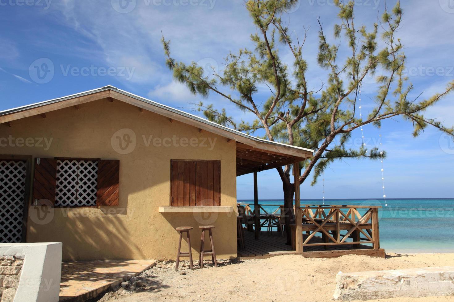 tropical island beach resort bar photo