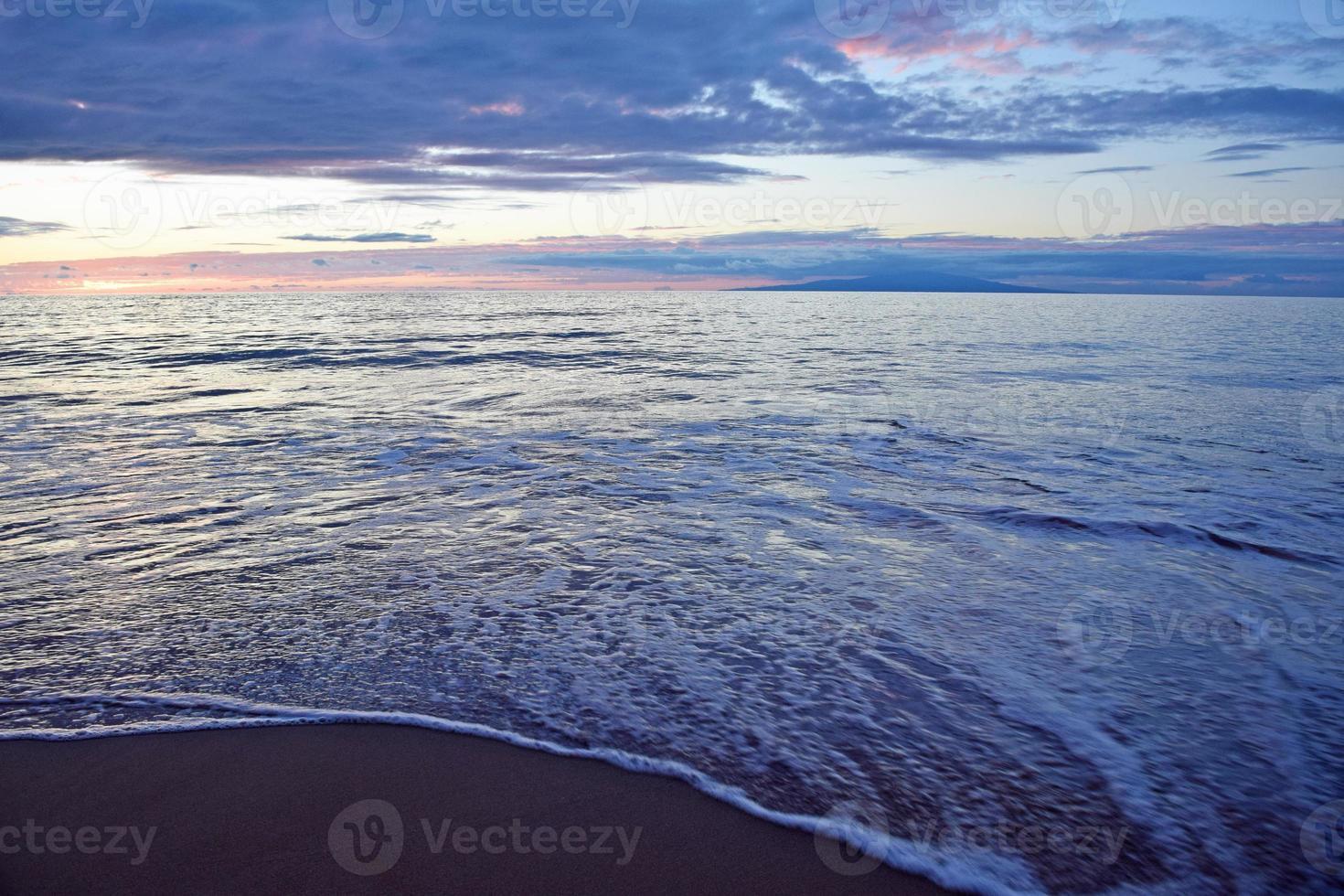 coucher de soleil plage de l'état de wailea photo