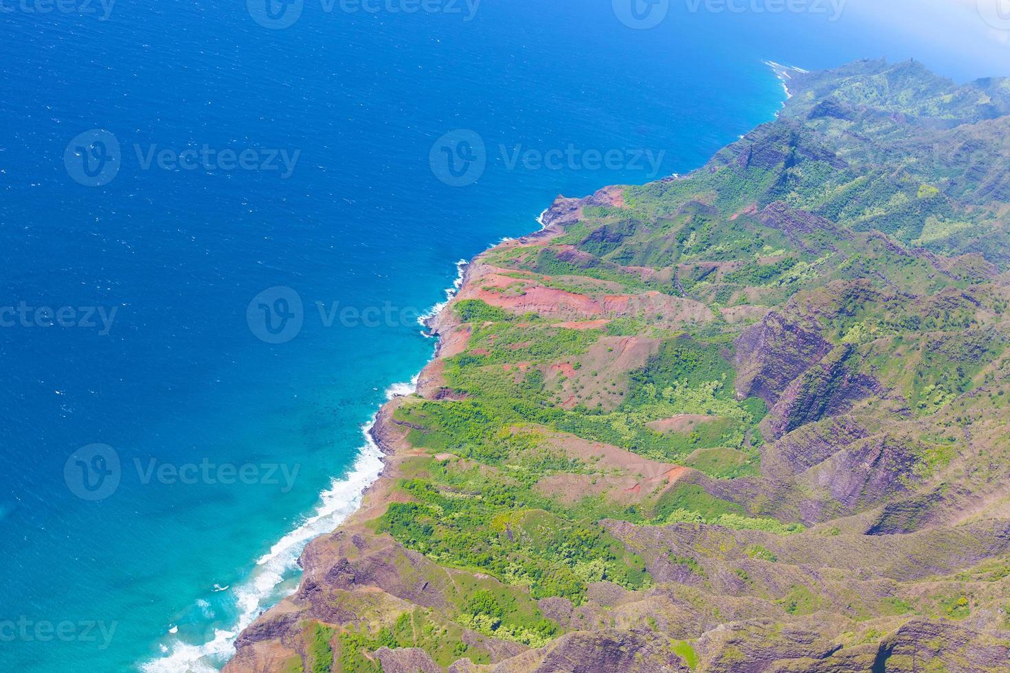 kauai vue depuis l'hélicoptère photo