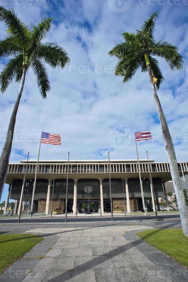 bâtiment de la capitale de l'État d'Hawaï. photo