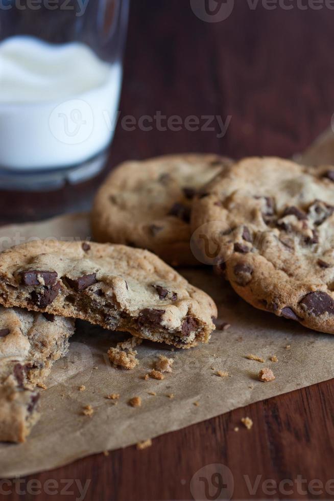 Cookies aux morceaux de chocolat photo