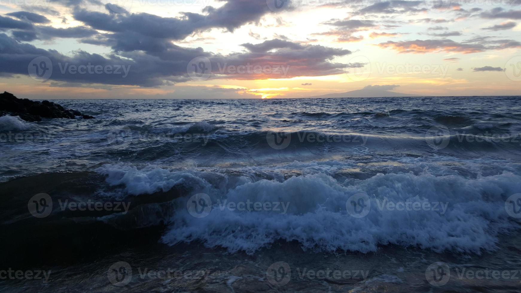 coucher de soleil à wailea 3 photo