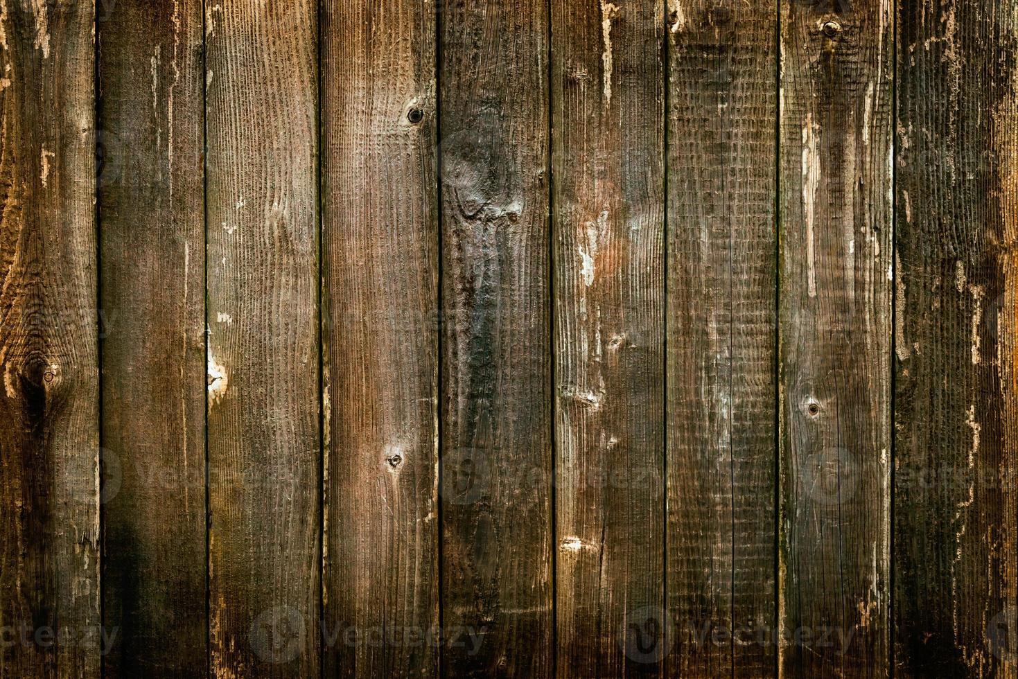 Texture de fond de planche antique en bois de couleur orange photo