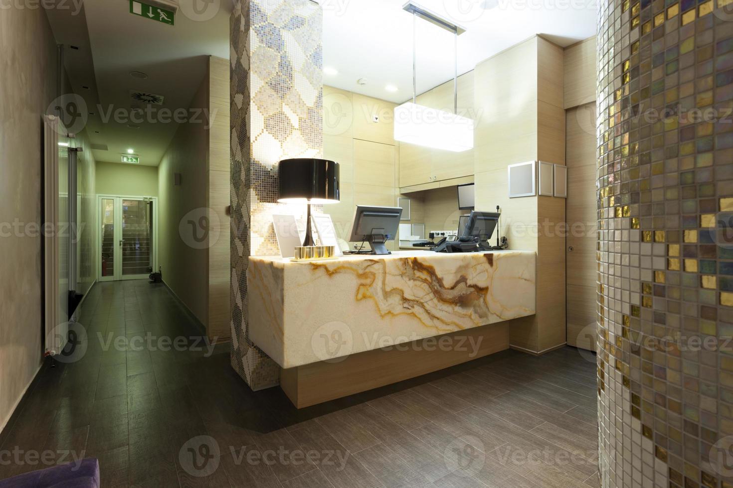 réception élégante en marbre photo