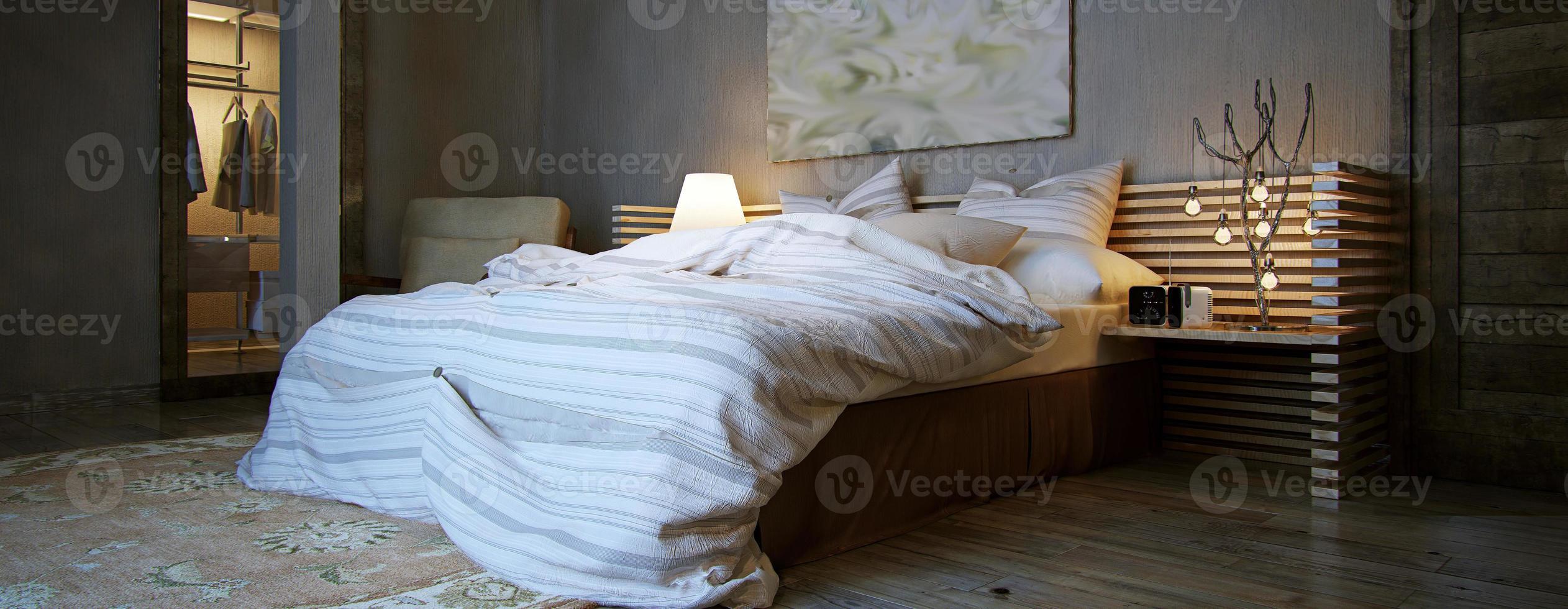 chambre intérieure, style rustique photo