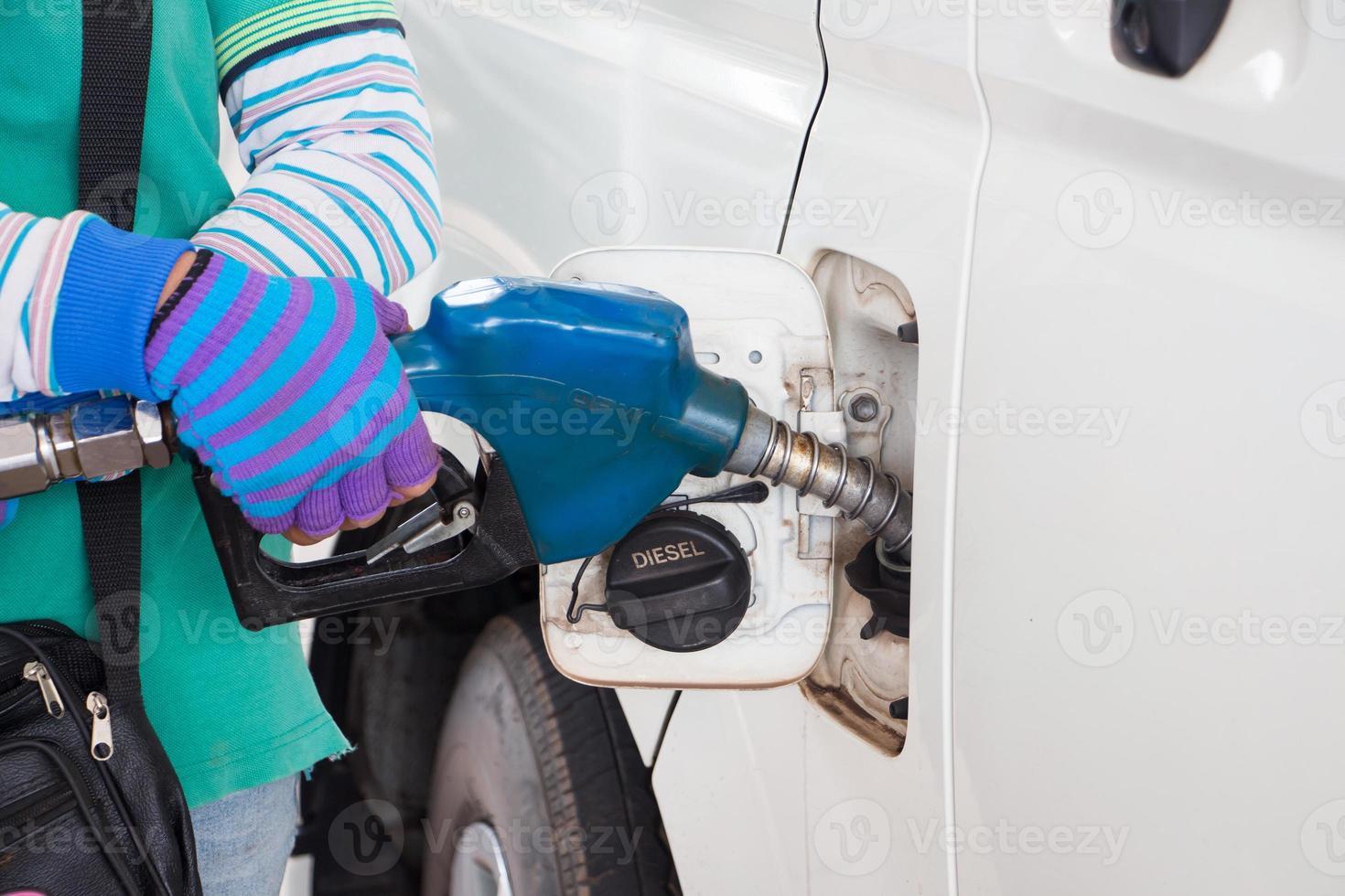 pompage de gaz à la pompe à gaz photo