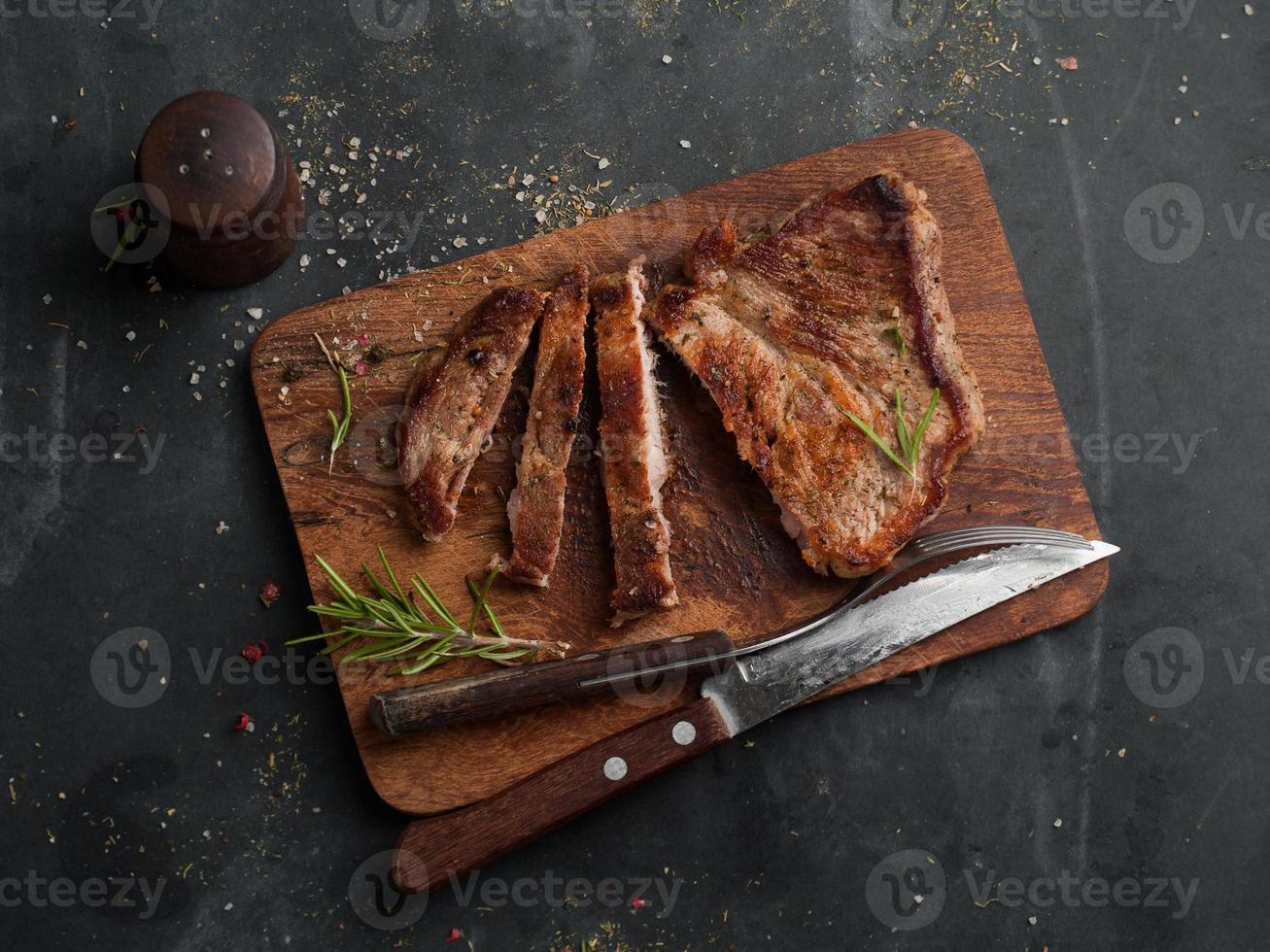 délicieux steak photo