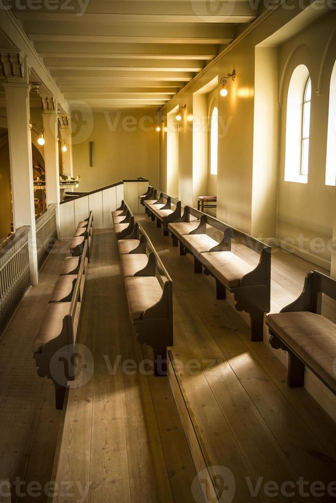 bancs d'église photo