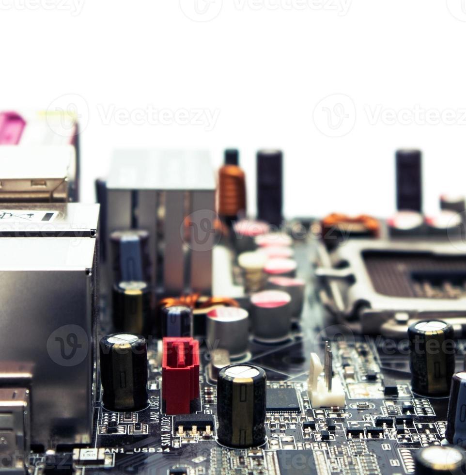 macro de plinthe électronique photo