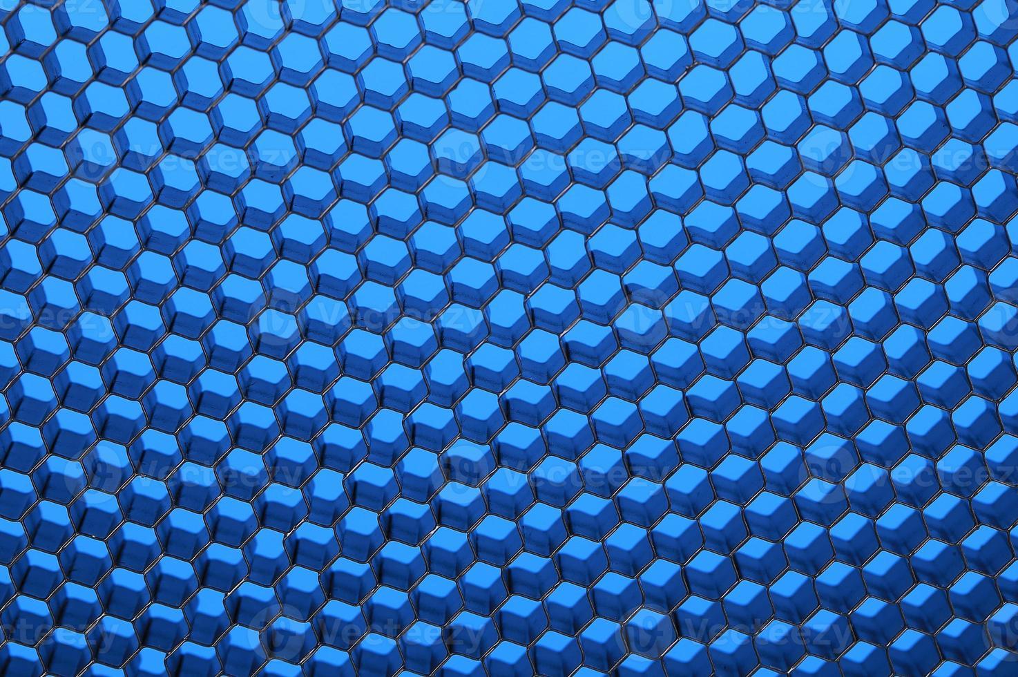 gros plan du filet noir. lumière bleue. photo
