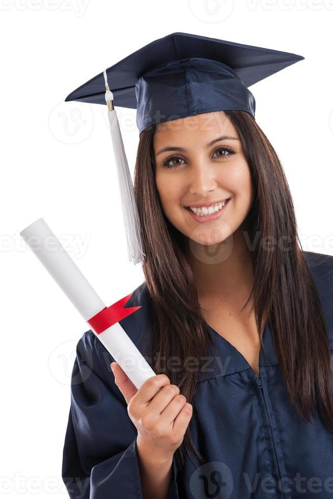portrait de diplômé d'université photo