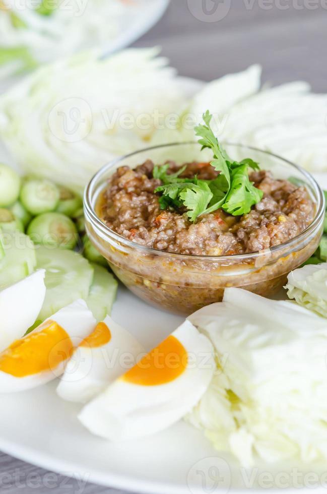 pâte de chili asiatique photo