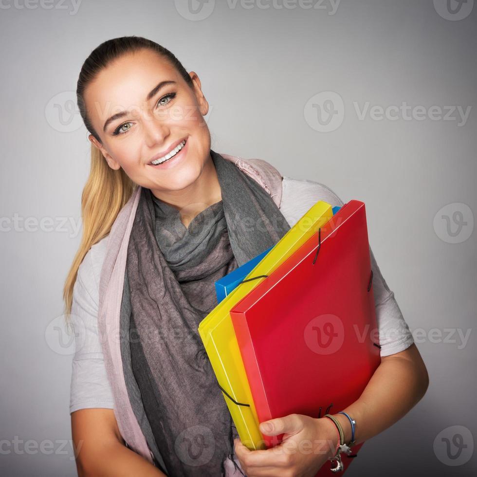 beau portrait d'écolière photo