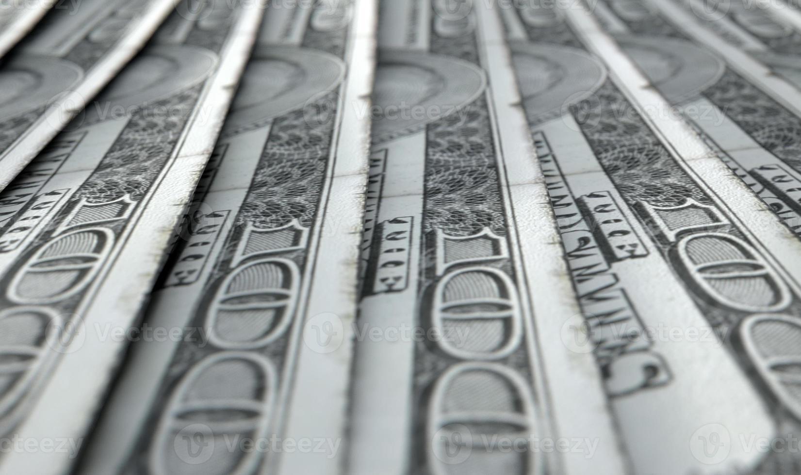 aligné, gros plan, billets banque photo