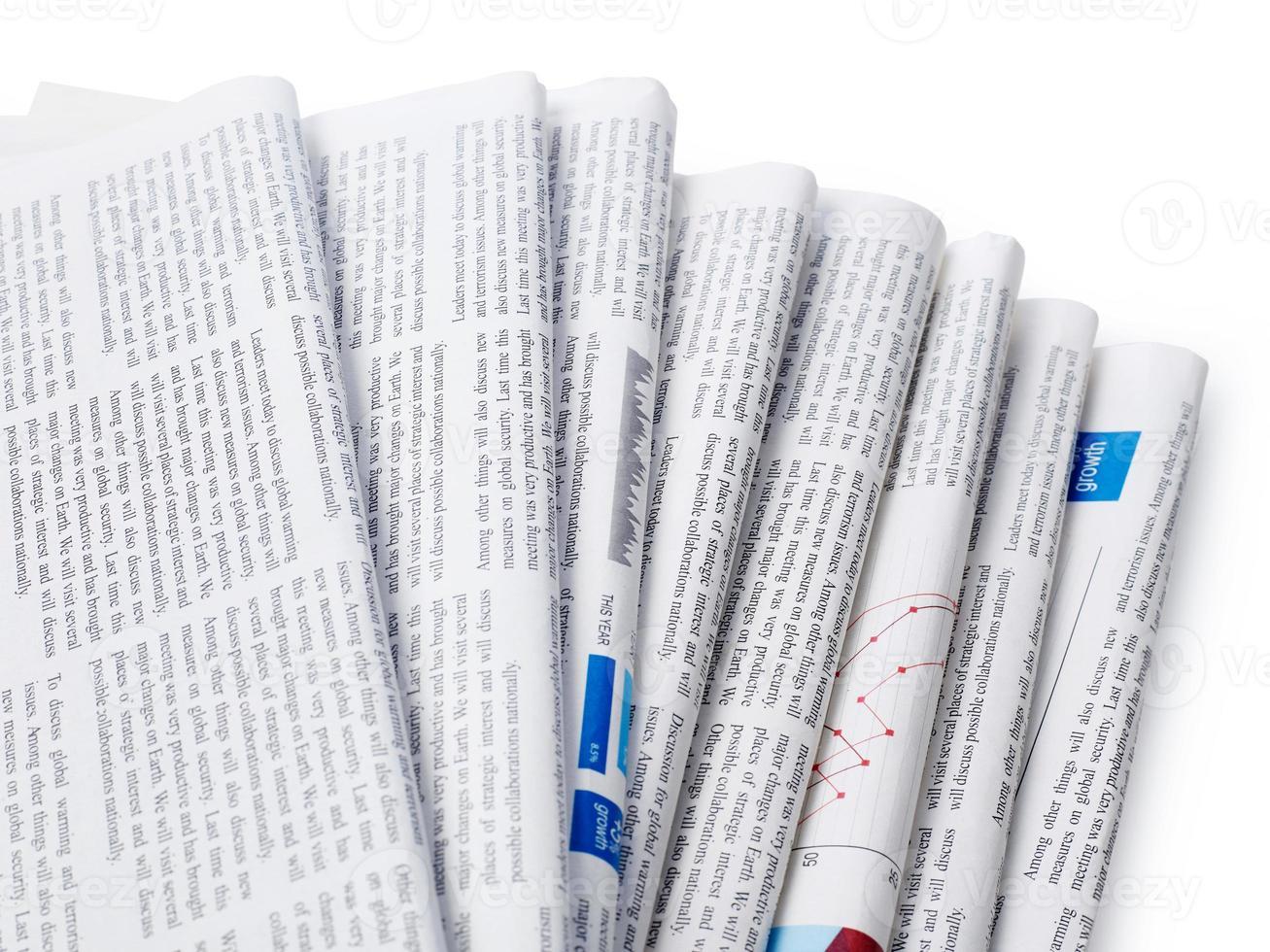 gros plan des journaux photo