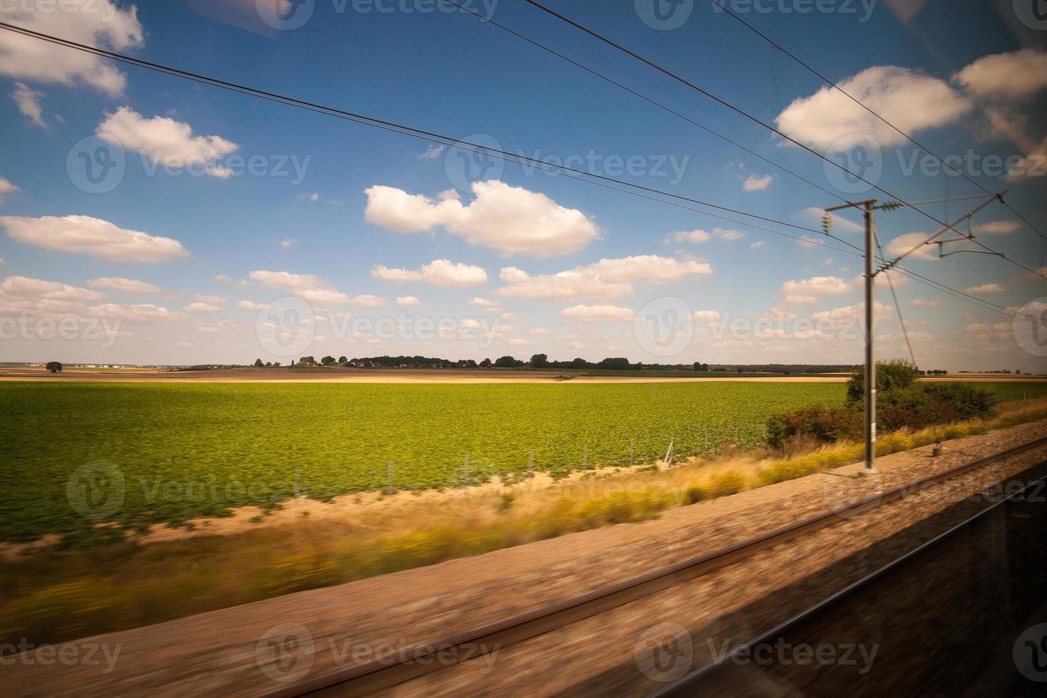 train pour profiter du paysage photo