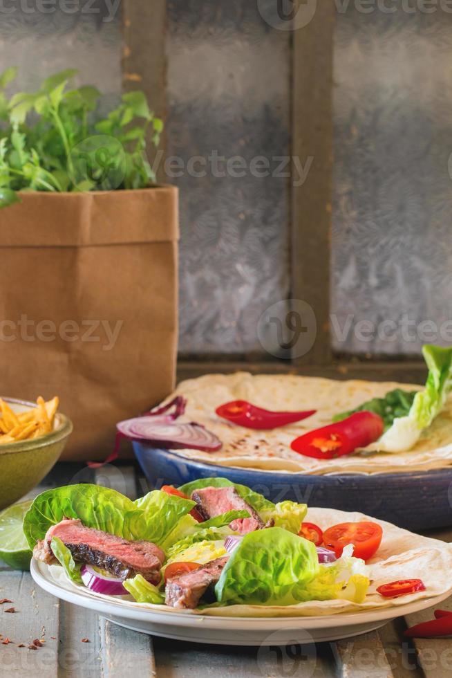 dîner de style mexicain photo