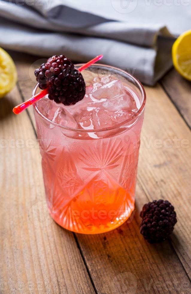 cocktail aux mûres photo