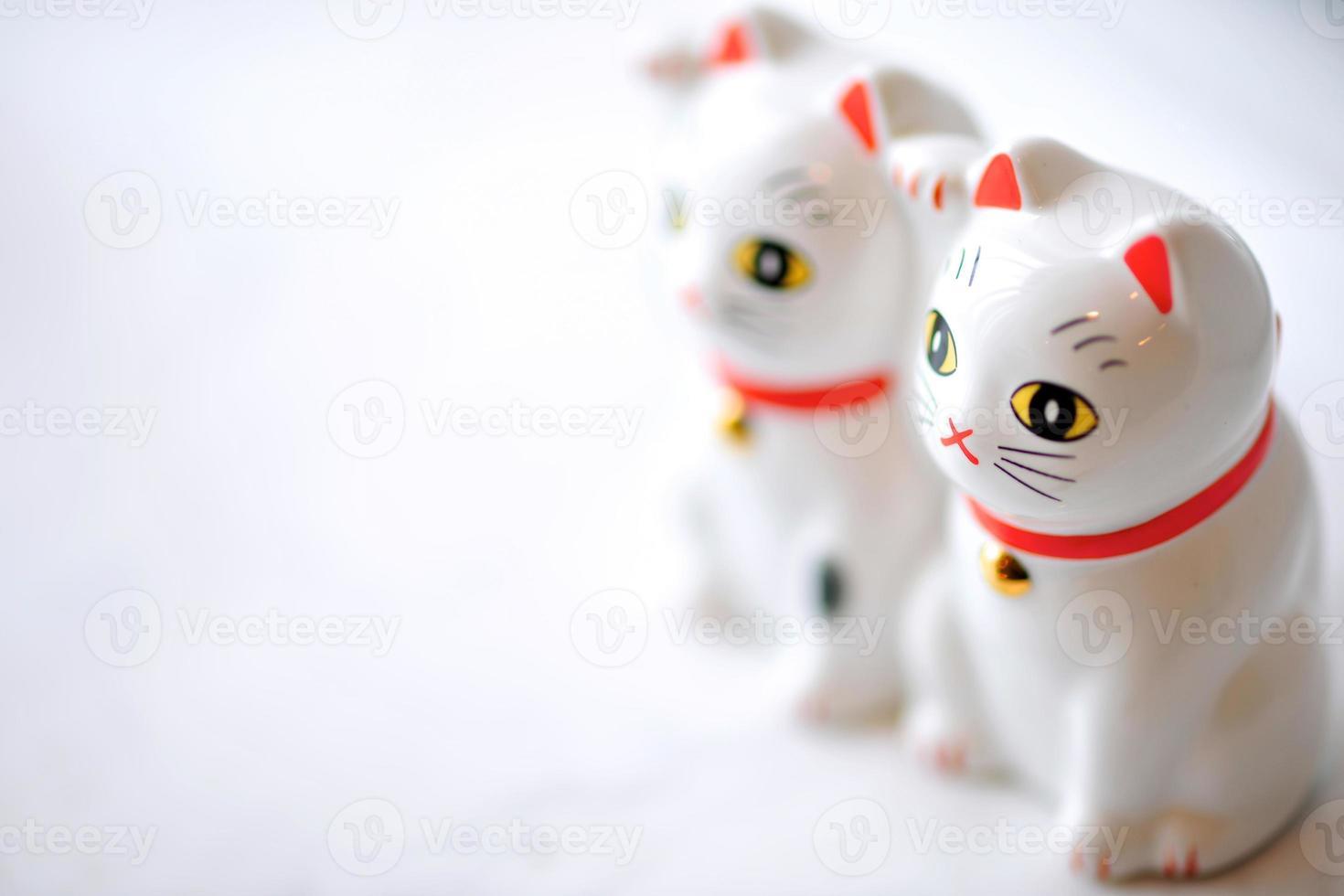chat porte-bonheur (maneki neko) couple photo