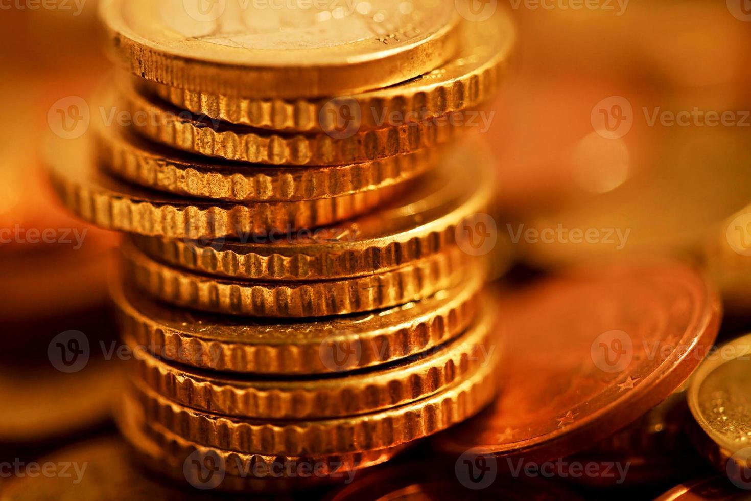 pièces de monnaie. photo