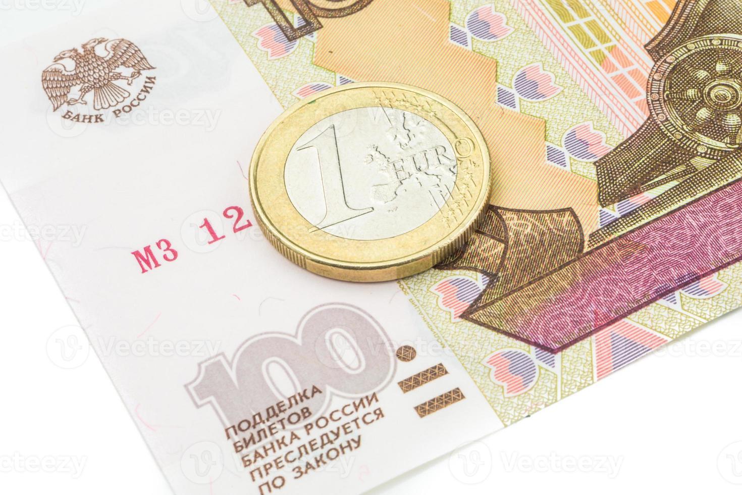 rouble russe et euro taux de change historique photo