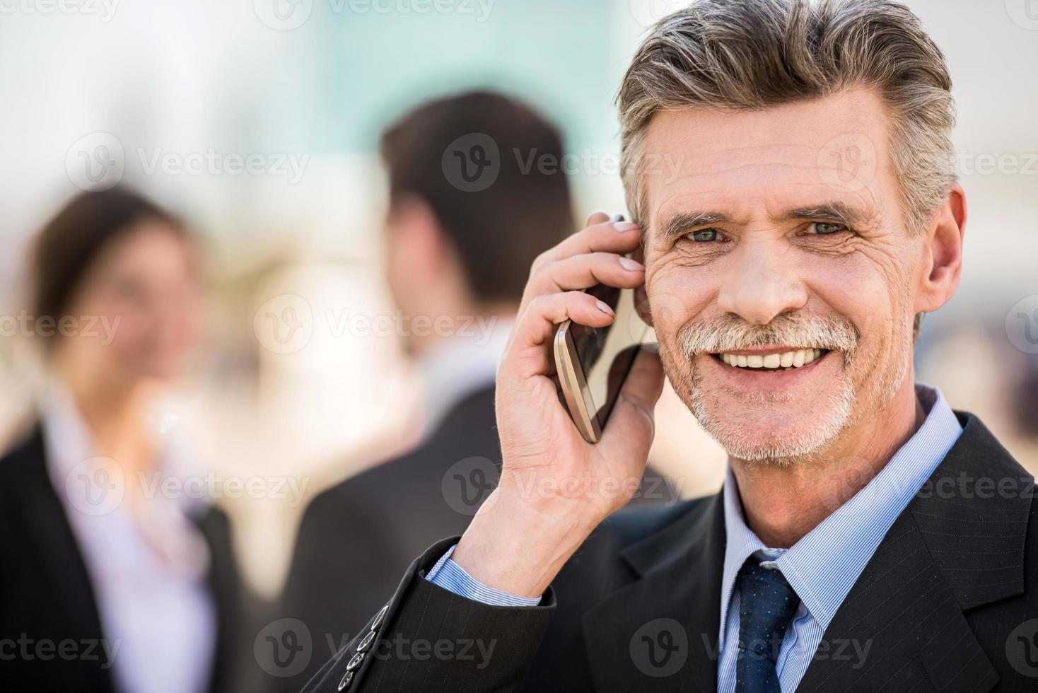 homme d'affaires lors d'une réunion photo