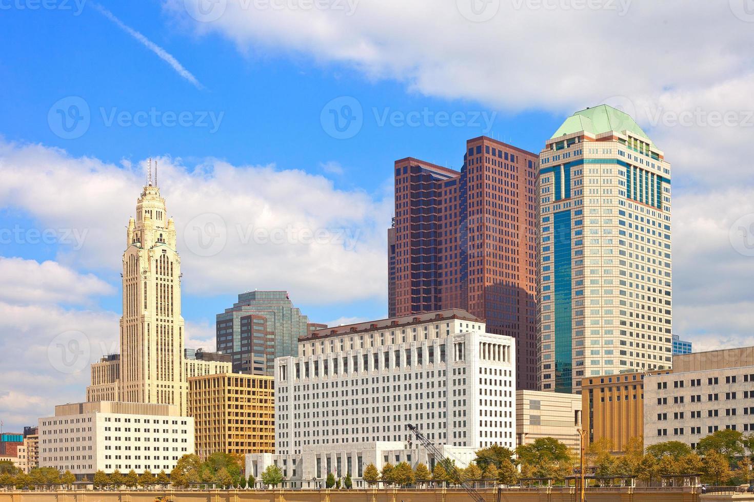 columbus ohio, bâtiments du centre-ville photo