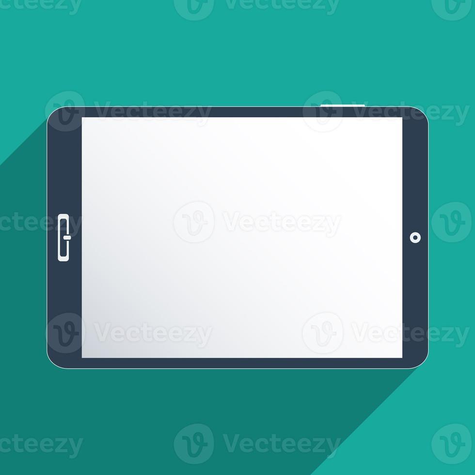 tablette avec écran blanc photo