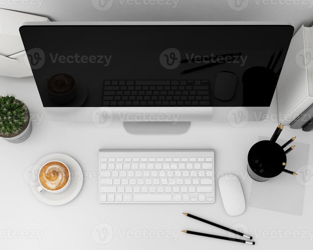 Illustration 3D du modèle d'ordinateur moderne, photo