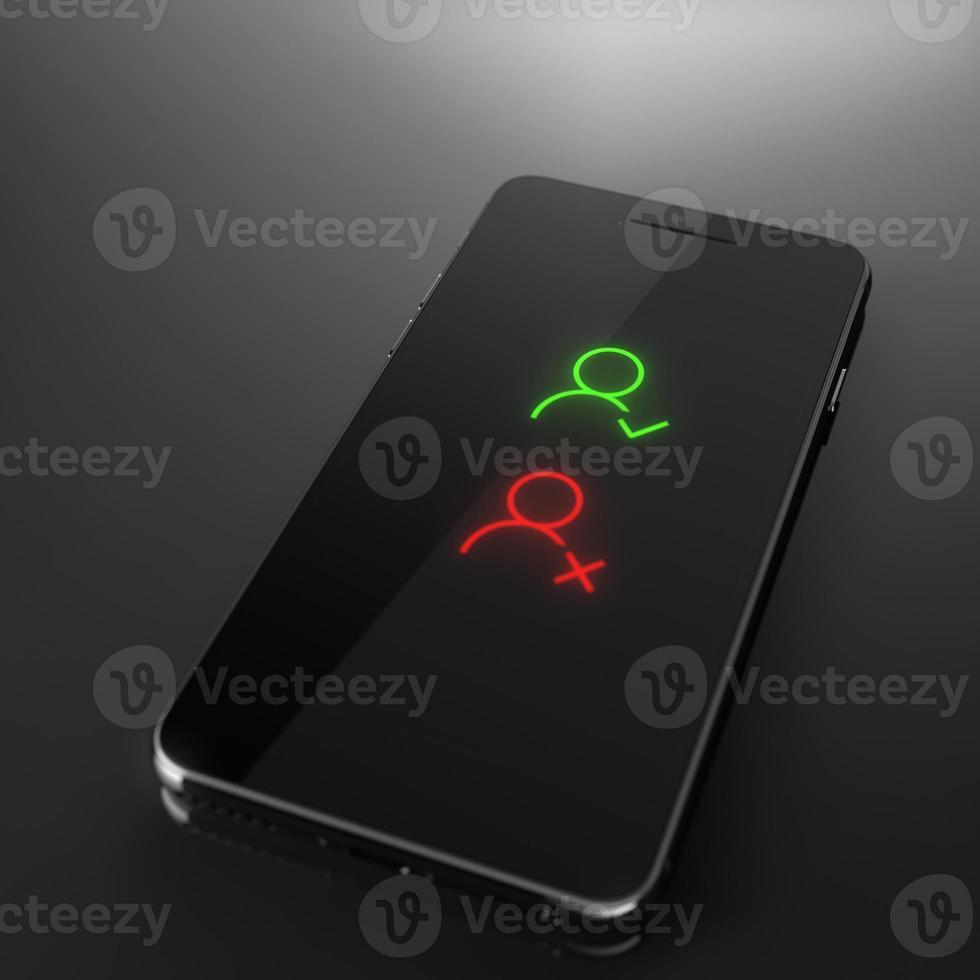nouveau contact, supprimer l'ancien - concept de téléphone intelligent personnalisé photo