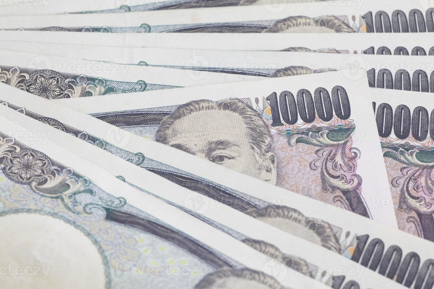 Close-up de billets en yen japonais pour le concept de finance photo