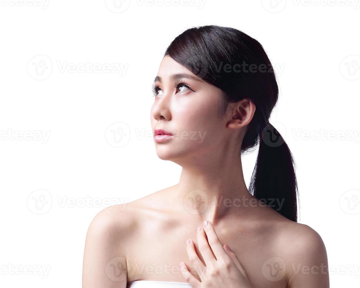 problème de peau de visage de femme photo