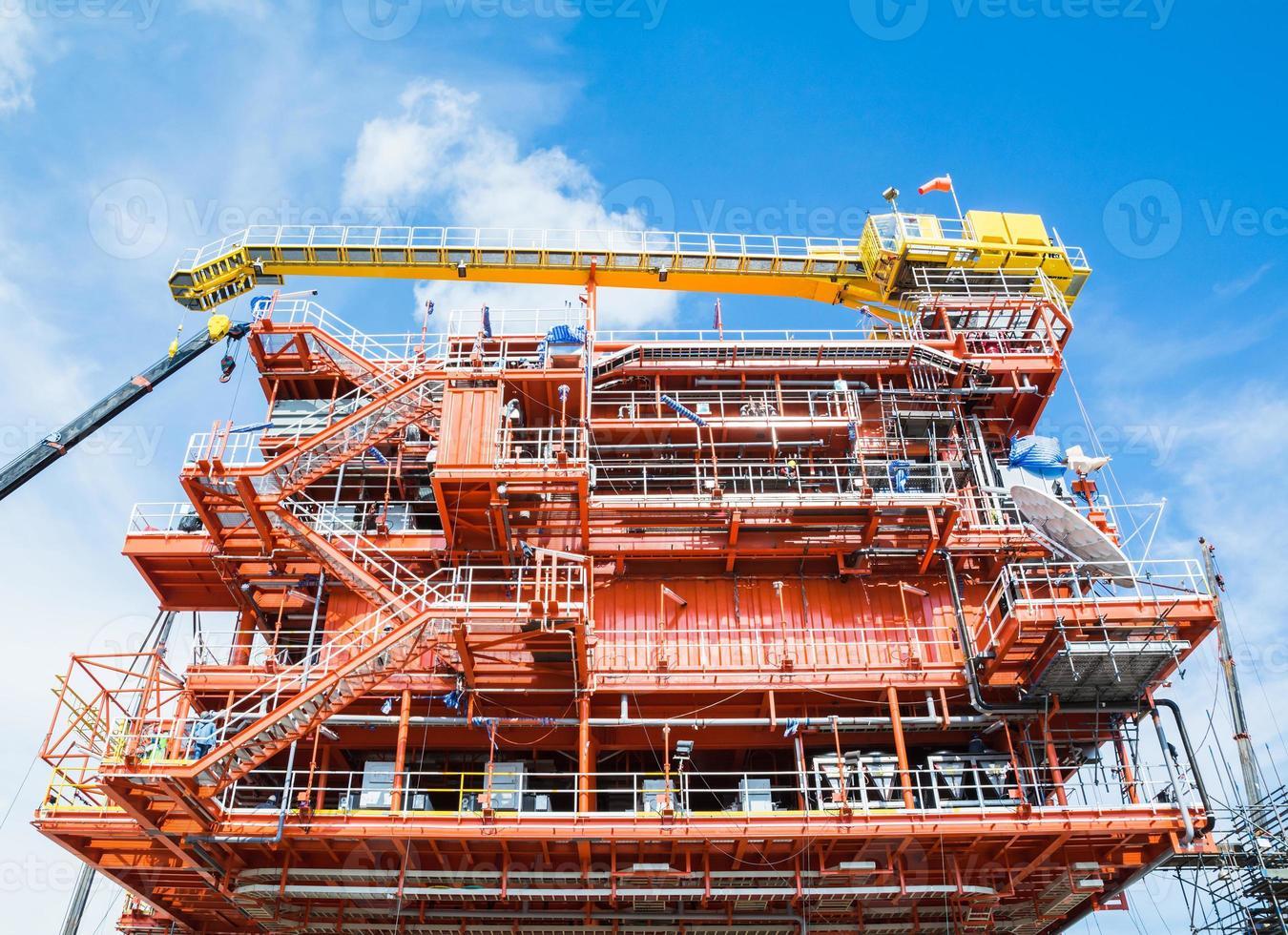 plateforme de production de pétrole et de gaz photo