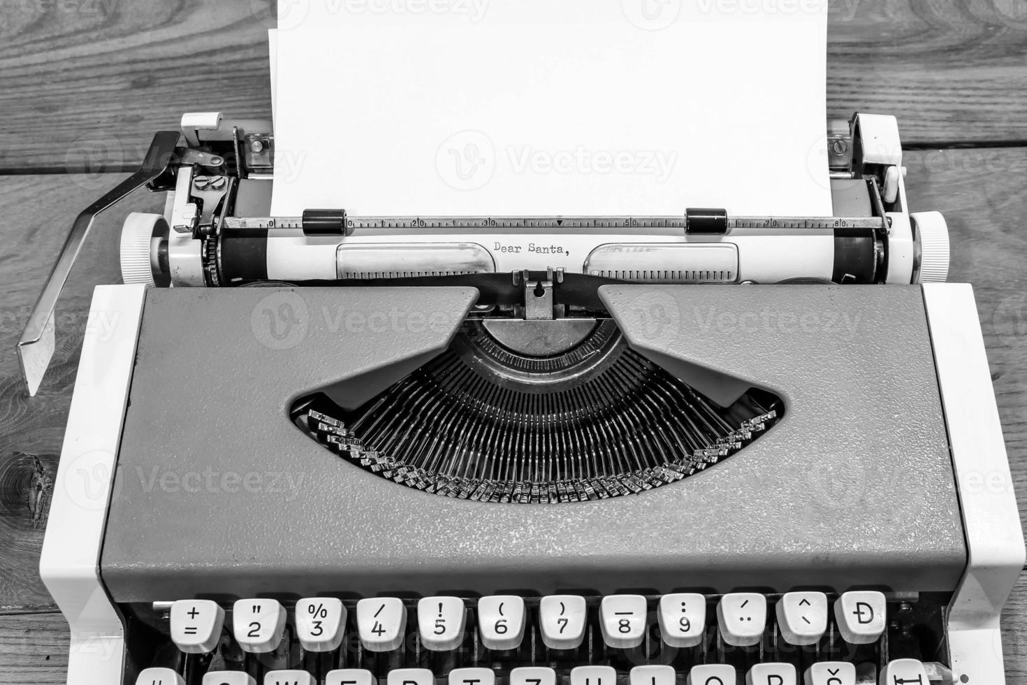 cher père Noël sur machine à écrire photo