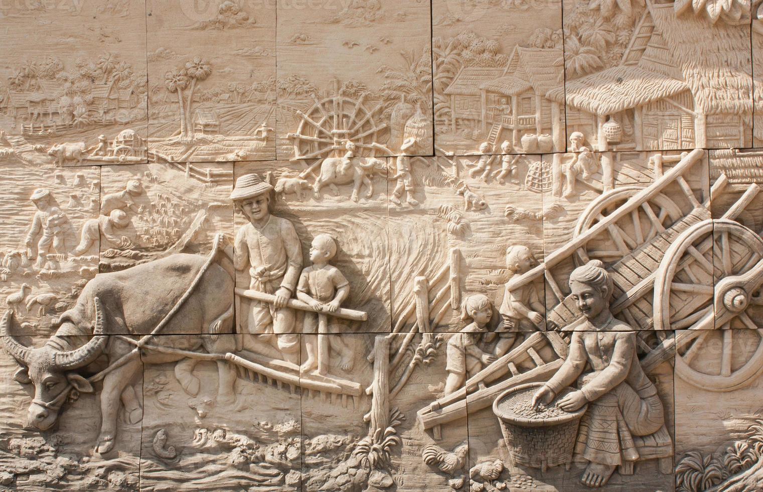 culture thaïlandaise sculpture sur pierre photo