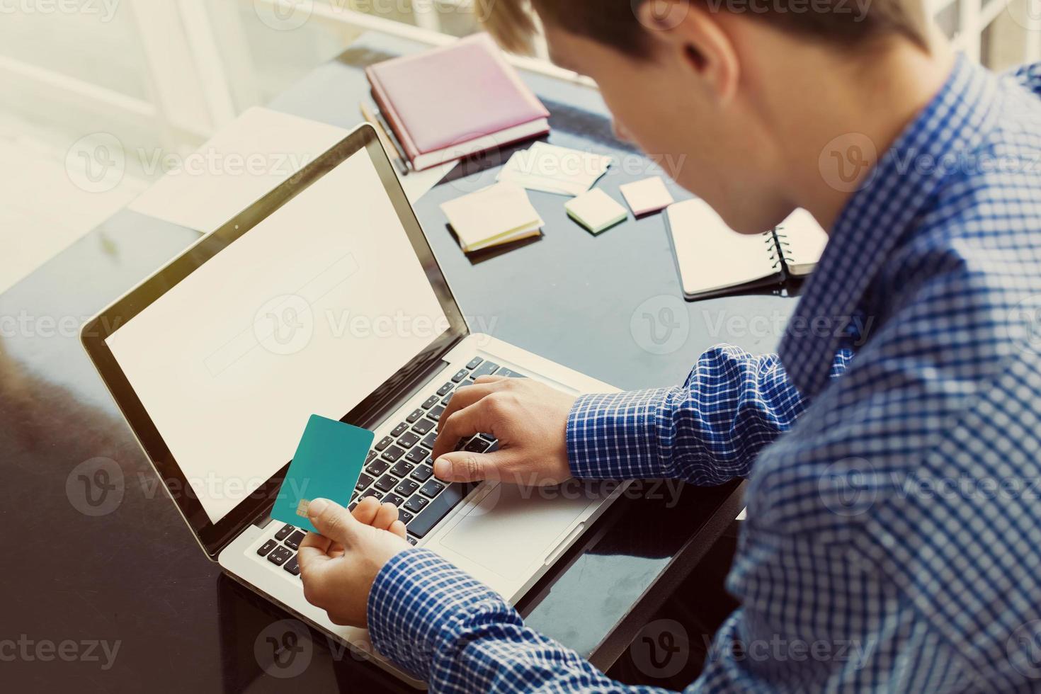 achats et paiement en ligne photo
