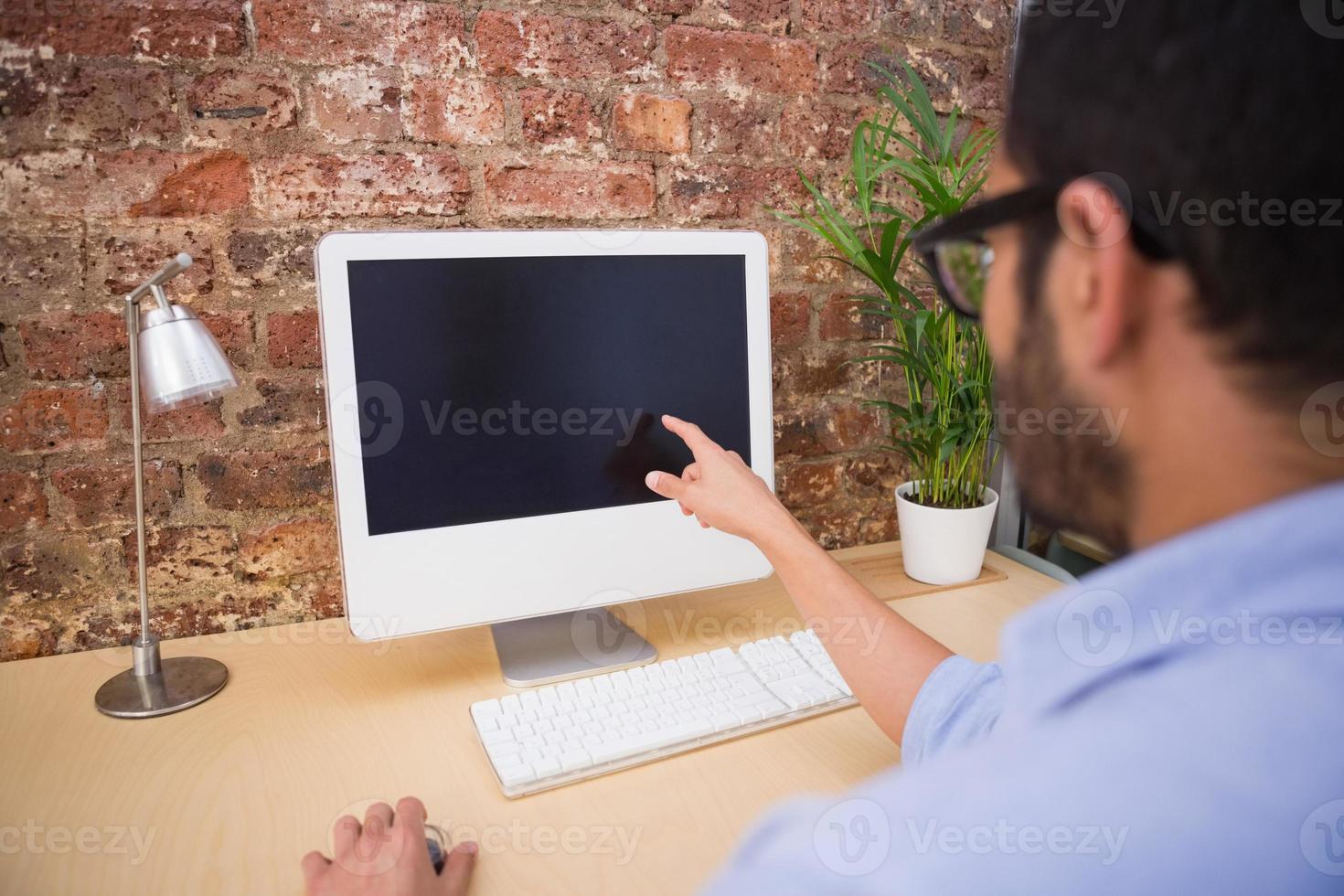 homme affaires, utilisation, informatique, bureau photo