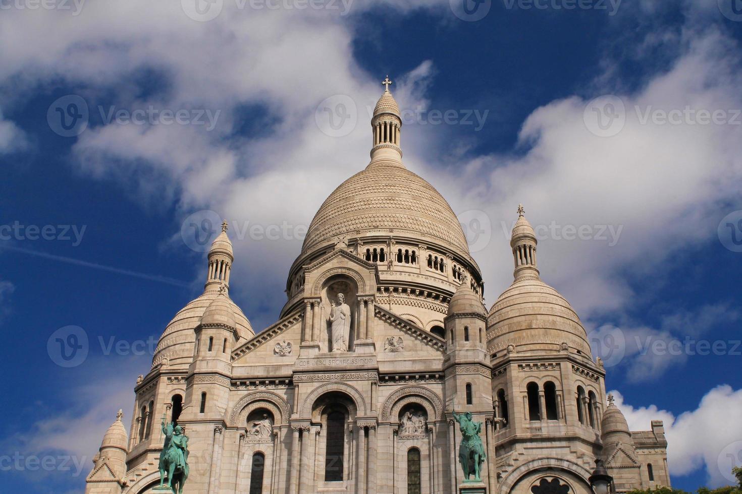 basilique du sacré coeur à paris, france photo
