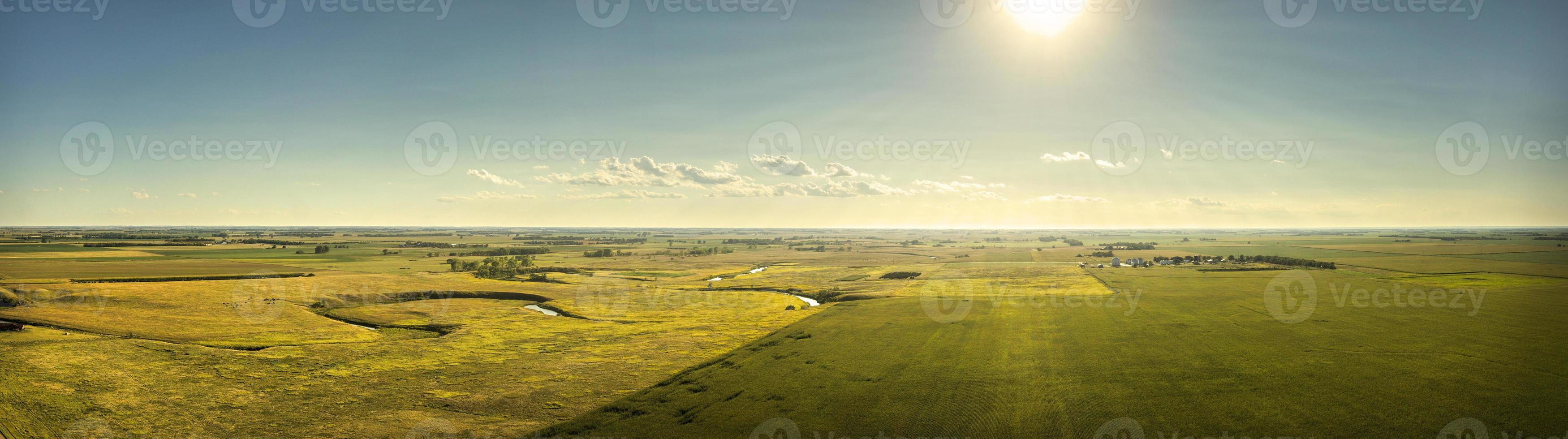 soleil sur les plaines du dakota du sud photo