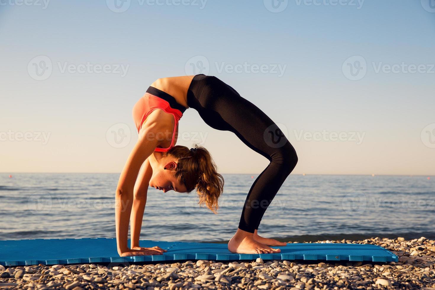 yoga à la mer photo