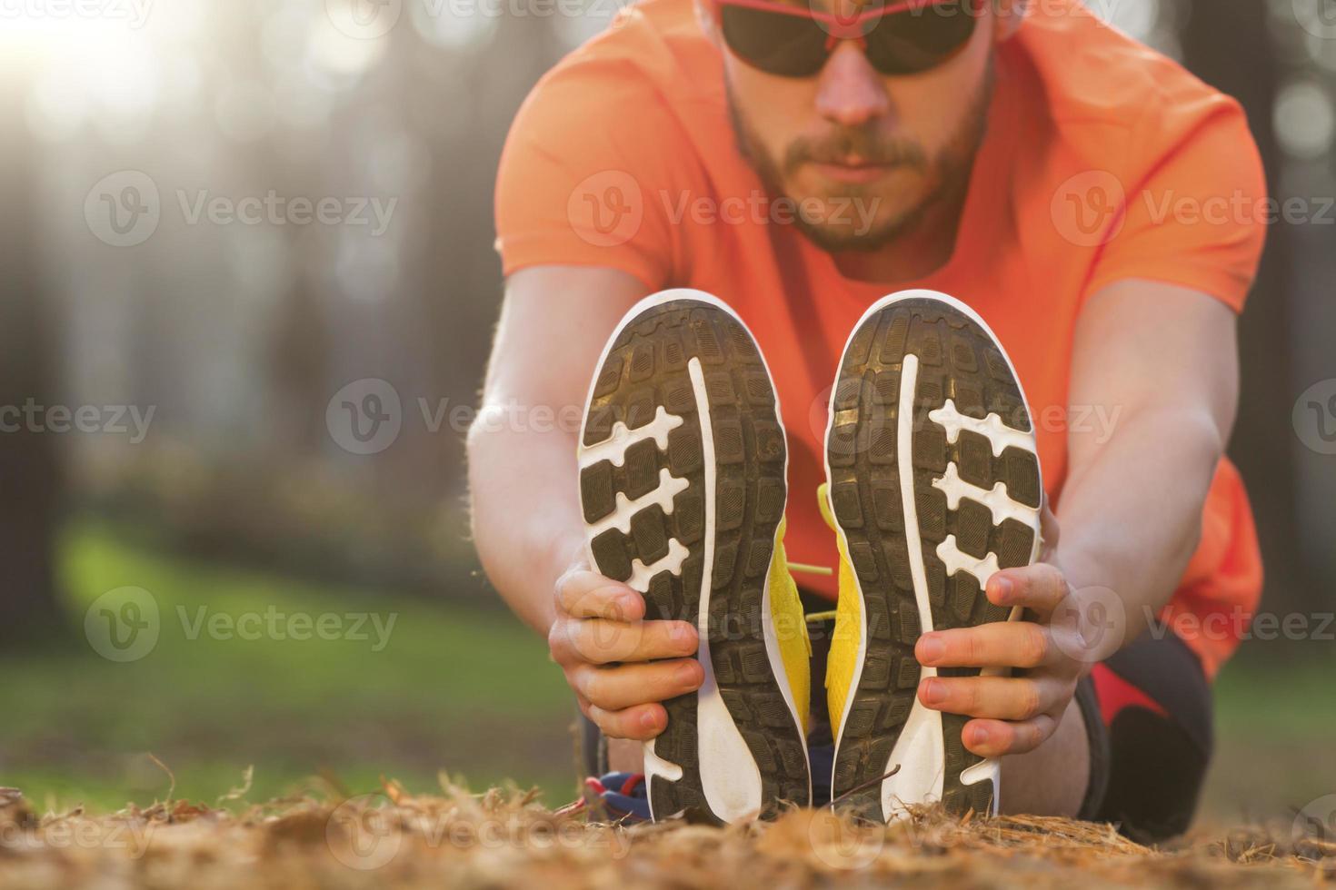 étirements après le jogging photo