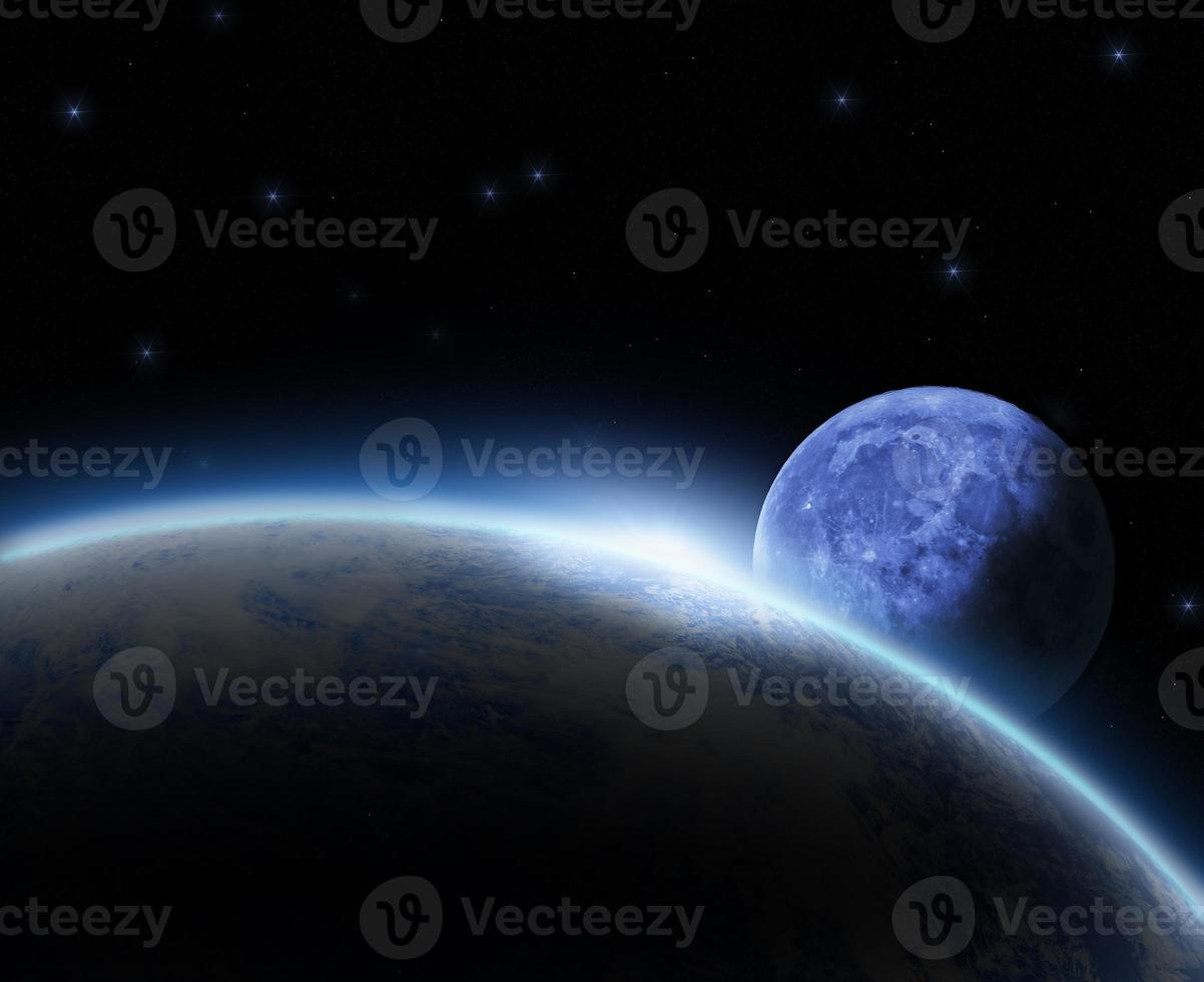 lever du soleil de l'espace photo