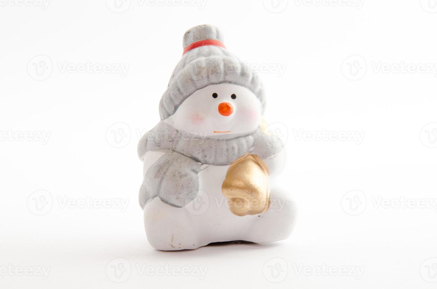 bonhomme de neige en céramique photo