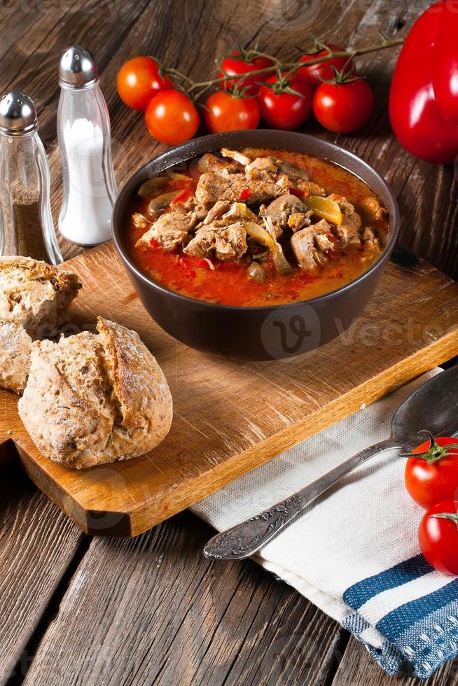 soupe de goulasch au paprika. photo