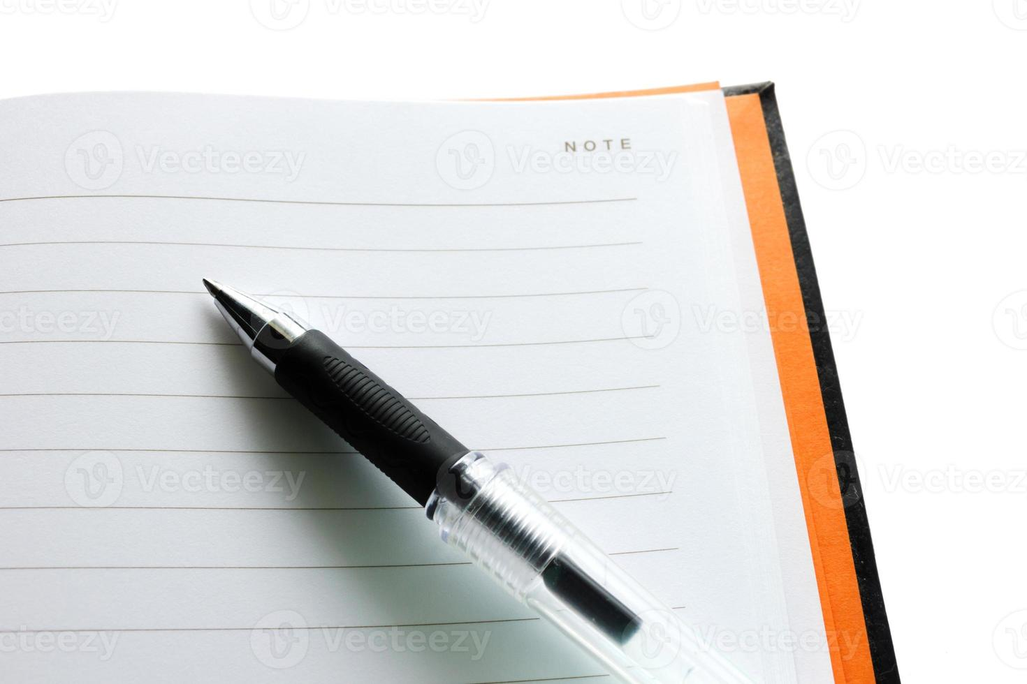 stylo et cahier photo
