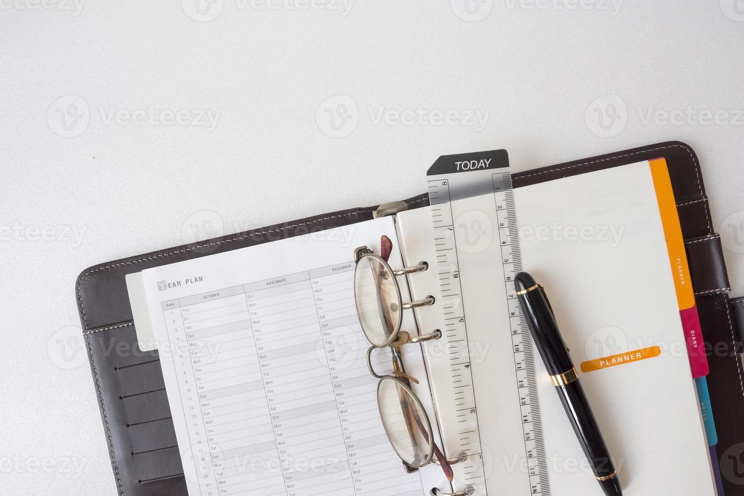 papier de carnet de notes photo