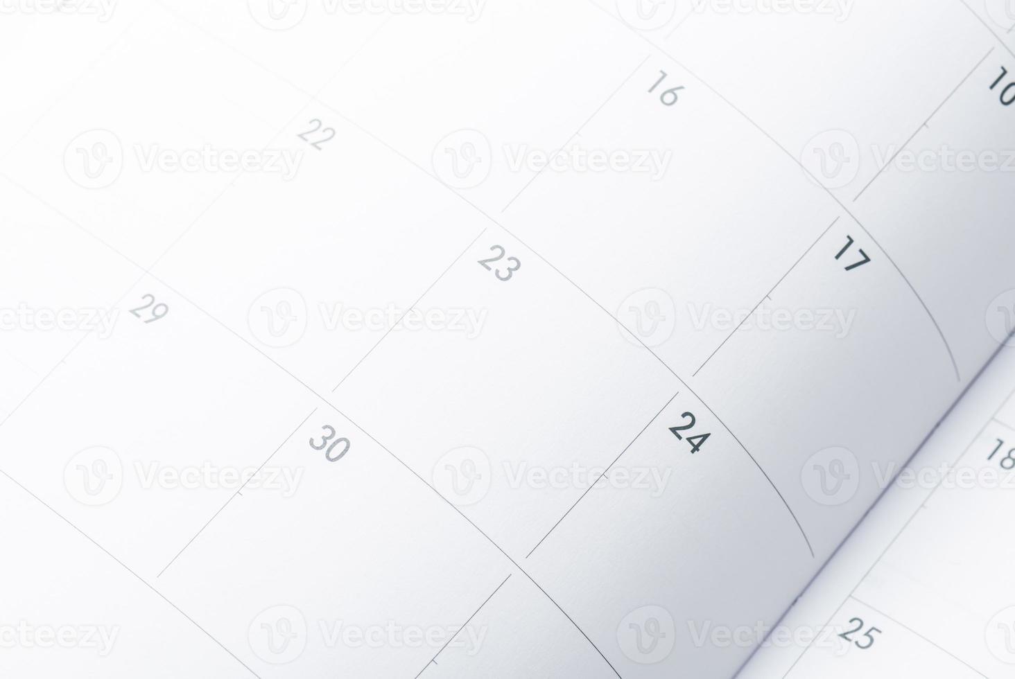 calendrier et date limite. photo
