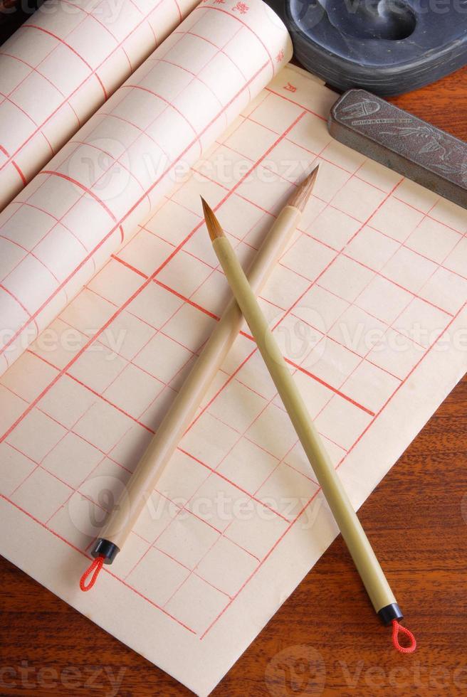 stylo pinceau d'écriture photo