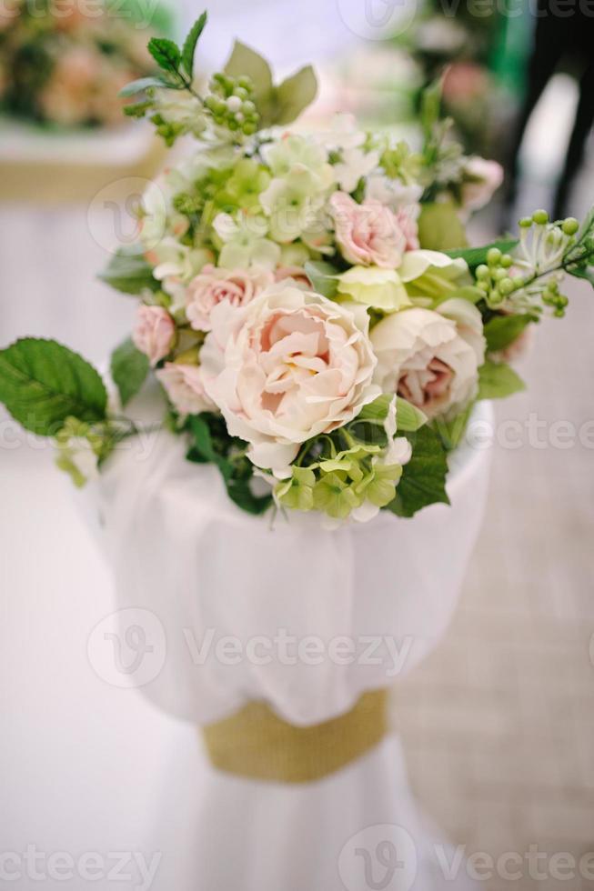 fleurs de décoration de mariage photo