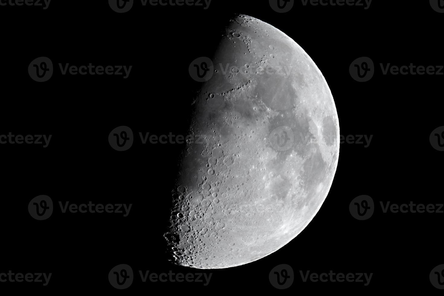 gros plan détaillé de la lune photo